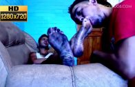 Dirty Latino Boy Feet Lick HD