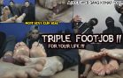 Str8CrushFeet- Triple Footjob